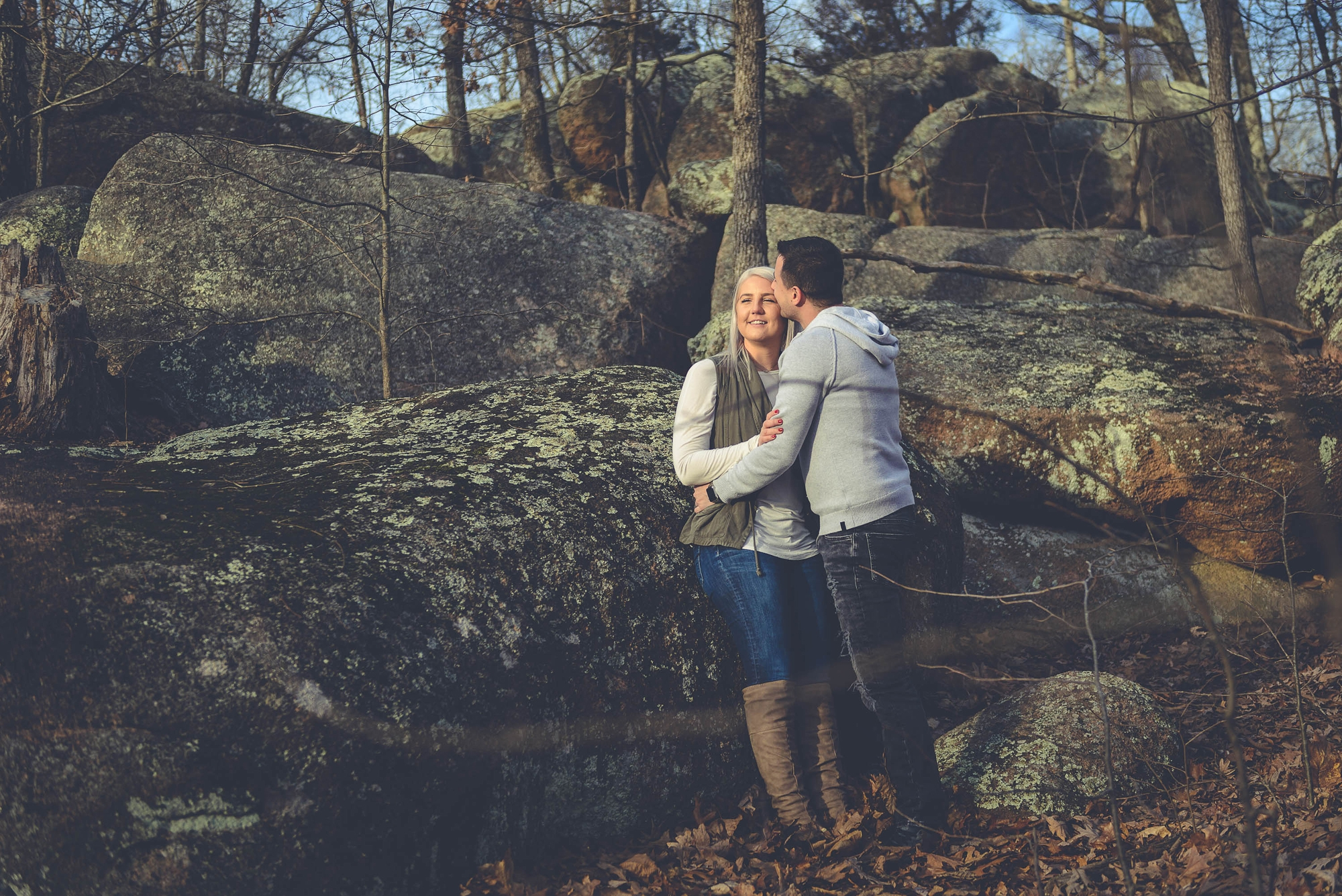 Engagement session Victor & Kirsten - Elephant Rocks/ Missouri